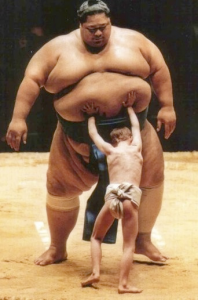 Fat Sumo Wrestler and kid 6.00